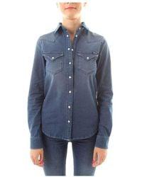 Replay Jeansoverhemd - Blauw