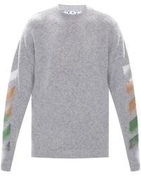 Off-White c/o Virgil Abloh Printed sweater - Grigio