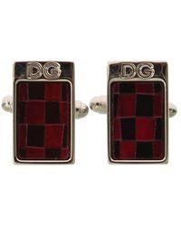 Dolce & Gabbana Brass Stone Cufflinks - Rood