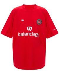 Balenciaga Oversize T-shirts - Rood