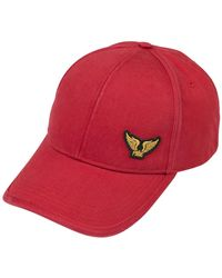 PME LEGEND Cap Washed Cotton Twill - Rood