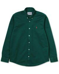 Carhartt WIP Camisa Madison W20 - Groen
