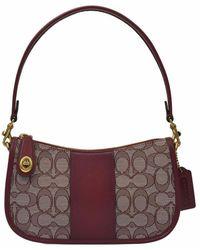 COACH Jacquard Swinger Bag - Rood