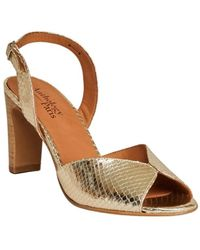 Anthology Aily snake pattern laminated leather sandals - Neutre