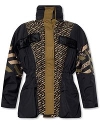 Versace Jacket With Logo - Zwart