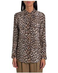 Equipment Leopard Print Silk Shirt - Meerkleurig