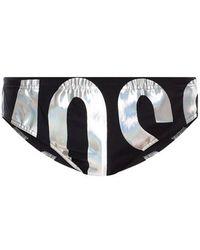 Moschino Zwembroek Met Logo - Zwart