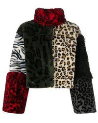 Boutique Moschino Jacket with animal print - Marron