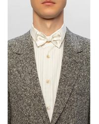 Giorgio Armani Silk bow tie Blanco