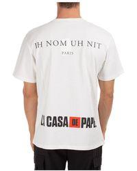 Orlebar Brown Short sleeve t-shirt crew neckline dali mask Blanco