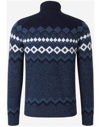 Gran Sasso - Motif Wool Jumper Azul - Lyst