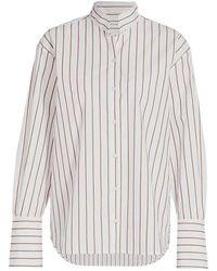 Michael Coal Striped Shirt - Naturel