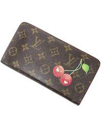 Louis Vuitton Ltd. Ed. Portefeuille Zippy Takashi Murakami - Marron