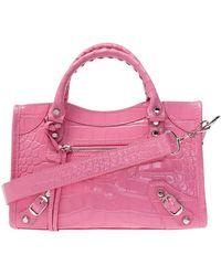 Balenciaga Classic Mini City Shoulder Bag - Roze