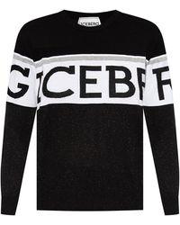 Iceberg Sweatshirt With Logo - Zwart