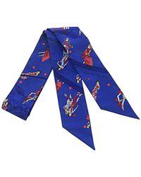 Hermès Ex-Libris Les Parisiennes Twilly Silk Scarf - Bleu