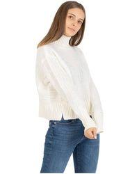 Maison Scotch High Neck Tricot Sweater - Wit