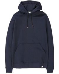 Norse Projects Cotton Hoodie Vagn Classic - Blauw