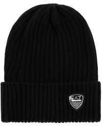 EA7 Hat With Patch - Zwart