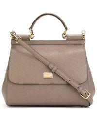 Dolce & Gabbana Sicily Medium Leather Bag - Bruin