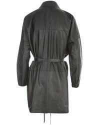 Giorgio Brato Oversized Leather Shirt Negro