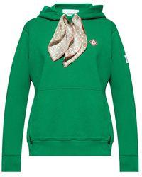 CASABLANCA Logo hoodie - Vert
