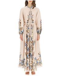 Zimmermann Aliane Billow Long Dress - Naturel