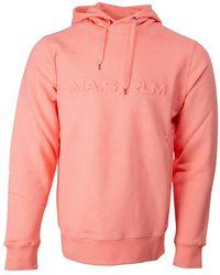 MA.STRUM Embossed Logo Hoodie Koraal M501 - Roze