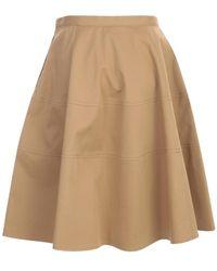 Aspesi - Short Wheel Skirt Beige - Lyst