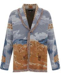 Alanui Knitted Cardigan - Blauw