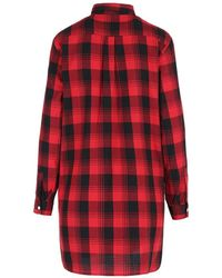 Woolrich Over Shirt Flannel Shirt Rojo