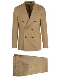 Tagliatore Doublebreasted Linen Suit - Natur