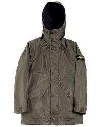 Stone Island 4622 Raso Gommato Reversible Jacket - Vert
