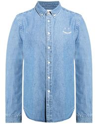 PS by Paul Smith - Denim Shirt With Logo - Lyst