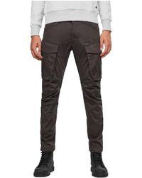 G-Star RAW Rovic Zip 3d Straight Tapered Pants - Zwart