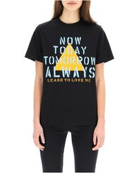 Coperni Now Today Print T-shirt - Zwart