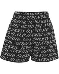 ROTATE BIRGER CHRISTENSEN Shorts - Zwart