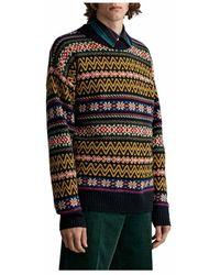 GANT Fair Isle C-neck Sweater - Geel