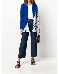 Suzusan TWO Tone Cashmere Cardigan Azul