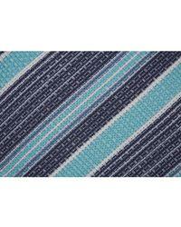 Brioni Striped silk - Bleu