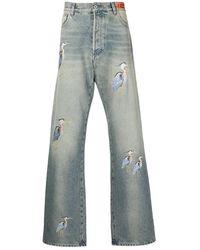 Heron Preston Flair Jeans - Blauw