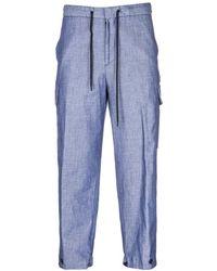 Emporio Armani Men's Broek Broek - Blauw