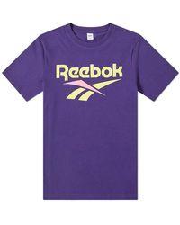Reebok Retro Vector TEE - Viola