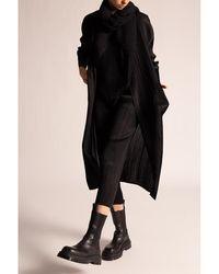 Issey Miyake Pleated cardigan Negro
