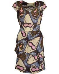 Bazar Deluxe Fancy dress with flounces with belt - Neutre