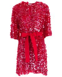 P.A.R.O.S.H. Trench Paillettes W/Belt - Rose
