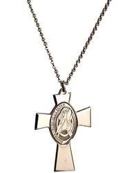 Amen Necklace Croce Gesu Madre Perla Clcrgiu - Naturel
