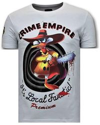 Local Fanatic Luxe T-shirt - Crime Empire - Wit