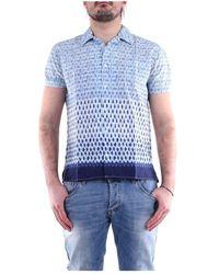 Daniele Alessandrini C1797b13524001 General Polo Shirt - Blauw