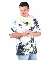 Karlkani Camiseta Retro Tie Dye Tee - Zwart